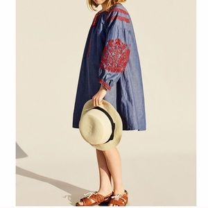 GORGEOUS ZARA NWT Bohemian Embroidered Dress